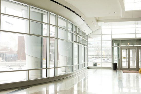 Office-Park-Lobby-with-Glass-Windows